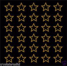 30 Rhinestone Stars iron-on diamante transfer crystal stone bling motif