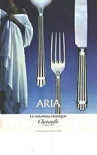 PUBLICITE  1983  CHRISTOFLE art de la table couverts ref ARIA