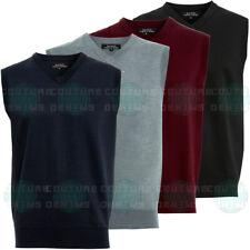 Classic Mens Sleeveless Sweater Fine Knitted Tank Top Jumper Slip-Over Golf