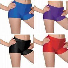 Girls Hot Pants Shiny Nylon Lycra - Dance, Gymnastics Kids Fitness Wear