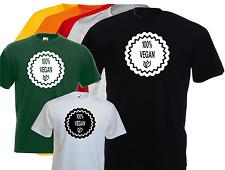 T-shirt humoristique homme VEGAN , 100% , NATURAL , S,  M, L, XL, NEUF.. NEW
