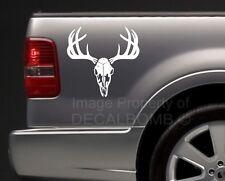 "large Deer Skull vinyl buck decal sticker truck diesel turbo pro hunt 15"" X 15"""