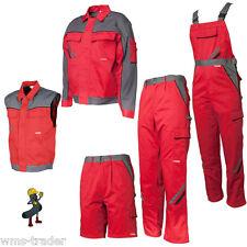 Pantalon/veste De Travail Gilet De Travail Courte Salopette de travail rouge
