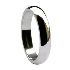 4mm 950 Palladium Wedding Rings D Shaped Profile Band 950 UK Hallmarked 3.8-4.4g
