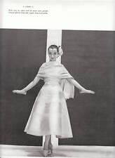 """Publicité Ancienne """" Robe Lanvin-Castillo 1955 """""""