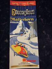 DISNEYLAND GUIDE TO THE MAGIC MATTERHORN BOBSLEDS GUIDE MAIN GATE MAP