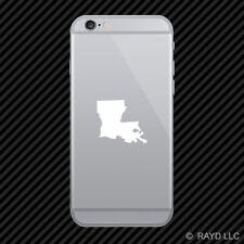 (2x) Louisiana Shaped Cell Phone Sticker Mobile LA many colors