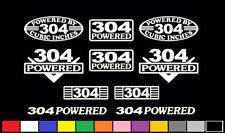 10 DECAL SET 304 CI V8 POWERED ENGINE STICKERS EMBLEMS IH AMC VINYL DECALS