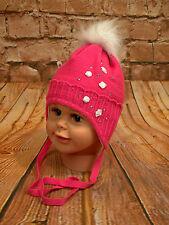 Wintermütze Baby Babymütze Kindermütze Mütze Bommelmütze Unisex Neu Größe 42-44