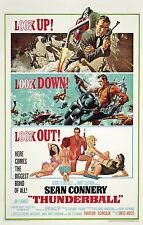 Home Wall Print - Vintage Movie Film Poster -JAMES BOND THUNDERBALL -A4,A3,A2,A1