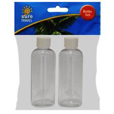 Sicuro di viaggiare 100ml vacanza viaggio volo PLASTICA TRASPARENTE DA TOILETTE BOTTIGLIA contenitori