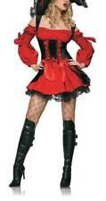 S-Extravagantes Piraten Kostüm Mini-Kleid schwarz-rot