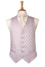 Purple Diamond Waistcoat Vest for Weddings Brand New (UK)