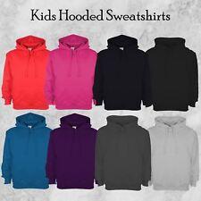 Kids Boys Girls Classic Hooded Long Sleeve Childrens Sweatshirt Casual Hoody Top