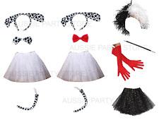 101 Dalmatians Dog Animal Set  Cruella Costume Accessory Wig Gloves Book Week