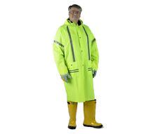 "Storm Stripes Lime Green 48"" Rain Coat & Hood Reflective"