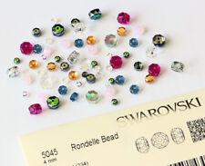 Véritable cristaux de swarovski 5045 Rondelle Perles * Plusieurs tailles et couleurs