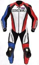 Honda Motociclista Tuta Pelle Giacca Pantalone Corsa Motociclo Vestito Protezion