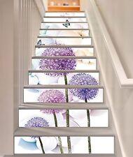 3D Purple Petals 9 Stair Risers Decoration Photo Mural Vinyl Decal Wallpaper CA
