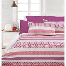 HYATT Pink Jacquard Quilt Doona Cover Set - SINGLE DOUBLE QUEEN KING