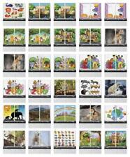 "Zoo Kitchen Curtains 2 Panel Set Window Drapes 55"" X 39"" Ambesonne"
