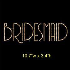 Bridesmaid Rhinestone Transfer Hotfix Iron on Applique Motif Choice of Colours