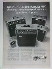 retro magazine advert 1980 PIGNOSE amps