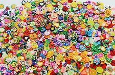 Fimo Mix , 100-1000 Scheiben ,Obst,Schmetterlinge,Blumen,Tiere, Blätter, NailArt
