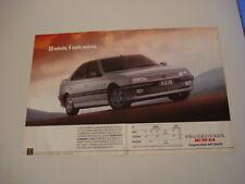advertising Pubblicità 1989 PEUGEOT 405 Mi 16 x4