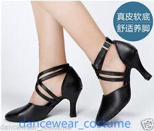 Leder Tanzschuhe Damen Latein Modern Tango Rumba Ballsaal Salsa Tanzen Schuhe