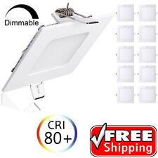 3W 6W 9W 12W 15W 18W 21W 24W LED Recessed Ceiling Light Panel Ultra Thin Square