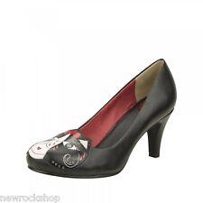 T.U.K. A8921L TUK Chaussures Femmes Day of the Dead Kitty Talons Vegan anti-pop