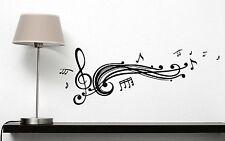 Wall Vinyl Sticker Decal Read Music Score Notes Treble Clef Decor (n310)