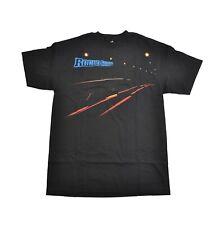 Rogue Status DRIFTING LIGHTS Black Multi-color Graphic S/S Regular Men's T-Shirt