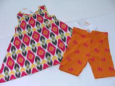 Gymboree BATIK SUMMER Elephant Girls Size 6 Swing Top Shirt Bike Shorts NEW