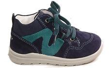 SUPERFIT Schuhe Schnürer echt Leder Lauflernschuhe Blau Grün NEU