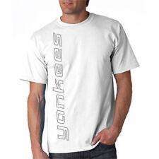 NEW YANKEES VERT SHIRT White T-shirt LARGE XL 2X 3X New York Blue Wave Creations