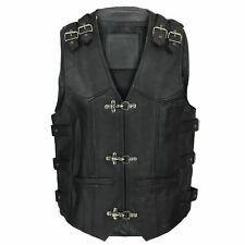Men's Genuine Leather Biker Vest