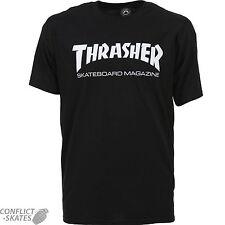 "THRASHER MAGAZINE ""Skate Mag Logo"" Skateboard T-Shirt Black S M L XL or XXL"