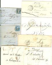 7 BELLES LETTRES MULHOUSE ENTRE 1822 A 1866 CACHETS TOUS DIFFERENTS