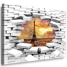 WANDBILD XXL LEINWAND BILD AUFGESPANNT KUNSTDRUCK PARIS EIFFELTU LOCH WAND BLICK