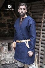 Moyen-âge Viking Manteau à Rabats Manteau Laine / Larp - Bleu de Burgschneider