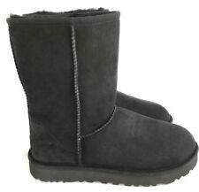 Ugg Classic Short II Suede Sheepskin Black Water Resistant Women's Boots