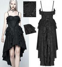 Robe bustier bal gothique lolita baroque volants dentelle corset traîne PunkRave