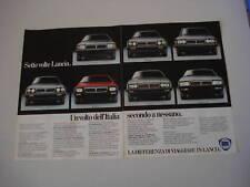advertising Pubblicità 1981 LANCIA GAMMA/HP/TREVI/BETA