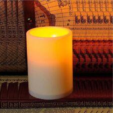 Flickering Flameless Pillar Resin led Candle Light + 4 & 8 Hour Timer