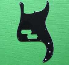P Bass Pickguard PB Scratch Plate Black 3 Ply Fits Precision Bass Guitar