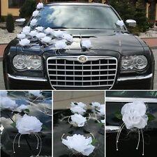 Brautauto Autoschmuck Hochzeitsauto Rosen Autodeko inkl. Türgriffschleifen Set1*