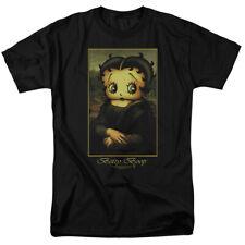 Betty Boop Betty Boopalisa Mens Short Sleeve Shirt BLACK