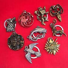 A Game of Thrones - Metal Keyring Key Ring Chain - Stark Targaryen Greyjoy - NEW